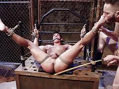 gay bdsm, gays, gay blowjob, gay rope bondage, device bondage, gay mouth gagged, gay caning, gay toe sucking, bound gods, kink men, jett jax, wolf hudson