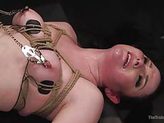 milf, tattoo, whipping, deepthroat, vibrator, ball sucking, nipple clamps, rope bondage, slave training, the training of o, kink, xander corvus, veruca james