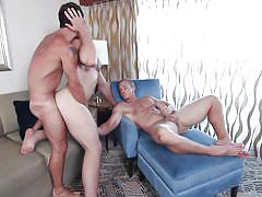Dirty gay orgy with four muscled studs