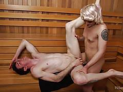 blonde shemale, tranny big dick, tranny babe, domination, anal sex, tattoo, sauna, ts seduction, kink, artemis faux, isabella sorrenti