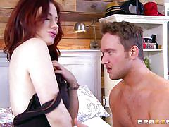 hairy, babe, redhead, blowjob, big dick, undressing, pussy eating, milfs like it big, brazzers, van wylde, jessica ryan