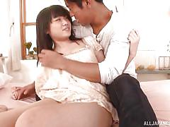 Asian teen gets seduced by horny lover