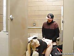 Amateur girlfriend gets fucked by a very long cock