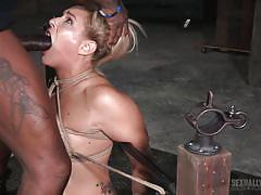 Sexy slut tied up and humiliated