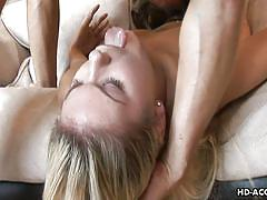 Slutty aubrey gets her vagina stretched wide open