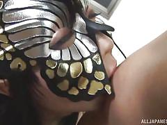 big tits, babe, japanese, blowjob, cosplay, tit job, masked, nipple pinching, boobs groping, j cos play, all japanese pass, tsukada shiori