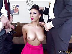 Rachel can handle two cocks in the same time