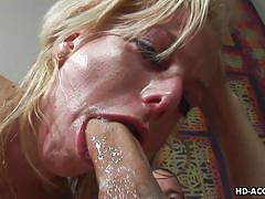 Angela gets awfully mouth fucked