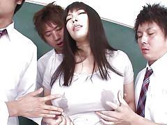 Our teacher has a huge boobs!