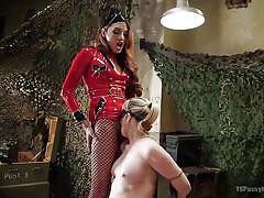 asian ladyboy, shemale mistress, shemale domination, bondage, blowjob, interracial, latex, blonde milf, blindfolded, ts pussy hunters, kink, jessica fox, simone sonay