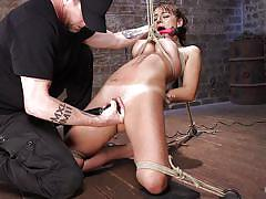 Helpless charlotte gets punished