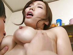 big tits, babe, japanese, from behind, undressing, censored, boobs groping, in kitchen, milfs in japan, erito, ai sayama