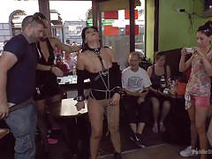 Bella does her first public show