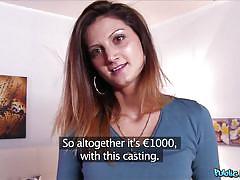 Sexy slut falls for the fake agent