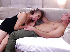 blowjob, granny blowjob, mature nl, on couch, gray haired mature, mature nl, jana w.