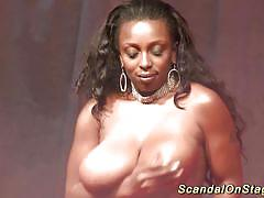 black, ebony, public, voyeur, striptease, show, scandal, dildo, tits, stage, mastrubation, massive tits, bigbreast, sexfair, extreme movie pass