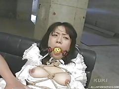 Japanese babe ill-treated and humiliated by a stranger