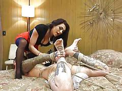 shemale mistress, shemale domination, face fuck, ass slapping, choking, rope bondage, humiliation, tattooed, gagged, ts seduction, kink, jessy dubai, ruckus
