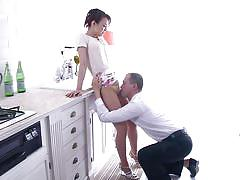 Lovely japanese milf gets seduced