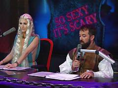 Intriguing cosplay on morning show @ season 16 ep. 750