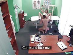 babe, blowjob, spy cam, eating pussy, missionary, on knees, on the table, fake doctor, sex in hospital, fake hospital, fake hub
