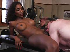 shemale big boobs, shemale mistress, domination, anal sex, ebony, interracial, transsexual, big black cock, facefuck, gym, ts seduction, kink, natassia dreams, beau warner