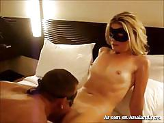 small tits, blonde, anal, amateur, cowgirl, from behind, masked, pussy eating, pov, my gf loves anal, the gf network