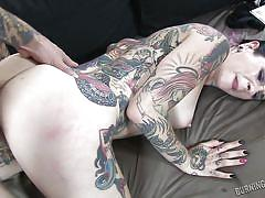 Busty tattooed lady gets her ass fucked