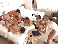 blonde, creampie, babe, gangbang, cosplay, hard fucking, japanese group sex, cosplay in japan, erito, aika