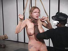 bdsm, whipping, master, vibrator, breathplay, busty milf, tied up, rope bondage, twig, hard tied, jack hammerx, rain degrey