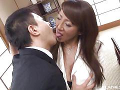 big tits, mature, japanese, brunette, office sex, natural tits, nipple sucking, boobs groping, japanese matures, all japanese pass, rika fujishita