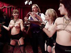 milf, bondage, whipping, domination, vibrator, watching, fuck from behind, busty babes, slave training, the upper floor, kink, nikki knightly, charlotte cross, bill bailey, aiden starr