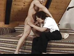 Granny teaches sex lessons to a gentleman @ real hardcore swingers