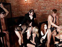 Dirty men and women have a fantastic orgy @ 5 incredible orgies