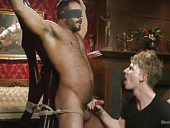 gay bdsm, gay handjob, gay blowjob, gay threesome, bear, device bondage, gay blindfold, men on edge, kink men, vinnie stefano
