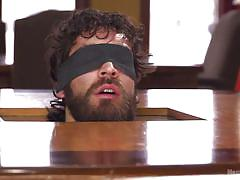 gay bdsm, gay blowjob, gay rope bondage, suspended, device bondage, gay blindfold, bearded gays, men on edge, kink men, dale cooper