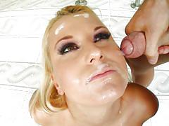 She gets some sticky stuff on her