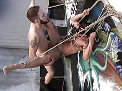 gay bdsm, gays, gay anal sex, gay rope bondage, suspended, gay whipping, tattooed, gay outside, gay ball gag, bound gods, kink men, chris harder, wolf hudson
