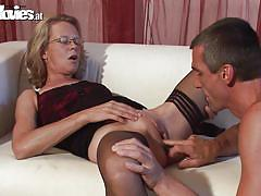 German mom having fun