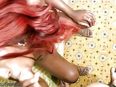 shemale, ebony tranny, big ass, blowjob, handjob, jerking off, small tits, monster cock, redhead, striptease, lingerie, pov, black shemale stars, shemax network