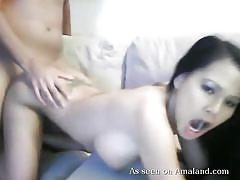 Hot amateur gets petite pussy pounded