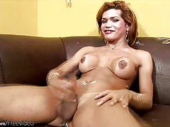 shemale, solo shemale, big ass, jerking off, panties, monster cock, redhead, bigtits, shaving cock, shemale tugjobs, shemax network