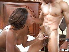 Big titted mom gets fucked by stud with bbc