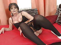 big ass, solo, masturbation, on couch, brunette mature, black stockings, mature nl, rayna s.