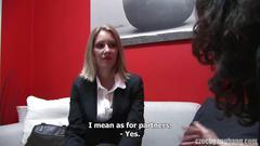 Czech gangbang leaves a career milf cum covered