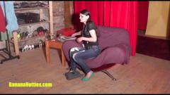Sexy czech amateur shows her pussy at the first casting