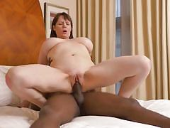 Tigger has a taste of black cock