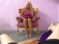 Amy anderson gives a harsh handjob