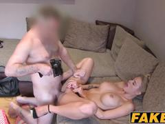 Busty blonde chelsey takes a hard dick in her big round ass