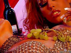Hot lesbians indulge in sexy fun